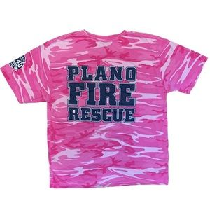 Plano, Texas Fire Department Pink Army Camo Shirt